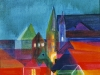 Nr.7 Glaeserne-Stadt  30x30 Leinwand / Acryl