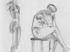 Nr.54  Weiblicher Akt abstrahiert  23x29  Papier / Bleistift
