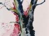 Nr. 23  Baumstudie  II  Herbst / Winter  25,5x35,5  Papier / Aquarell