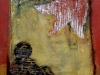 Nr. 231 Mädchen unter Glockenblume 50x55  Collage / Acryl / Leinwand