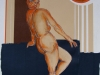 Nr.233 Frau blickt in Mondsonne 47,5x62 - 60x80  Collage 2004