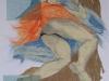 Nr. 236  Schlafender Akt II  47,5x62 - 60x80   Collage - Sorry, bin bereits vergeben !