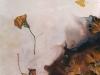 Nr. 87  Herbststurm 2  50x70  Leinwand / Pigmente / Gingo - Blätter