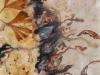 Nr.86  Herbststurm 1  50x70  Leinwand / Pigmente / Gingo-Blätter