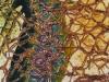 Nr. 132 Vernetzter Baum 60x100  Collage / Leinwand / Acryl / Pappe