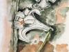 Nr. 25  Lilien  27x34  Papier / Monochromstift / Aquarell